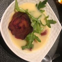 Le Compostelle - soupe au Maroilles